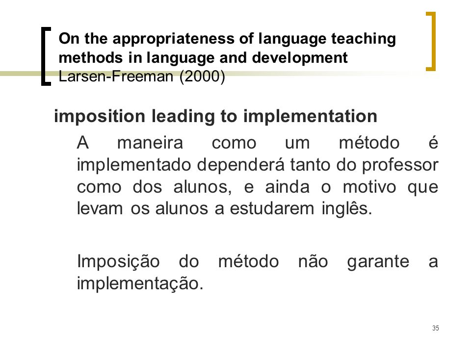 imposition leading to implementation