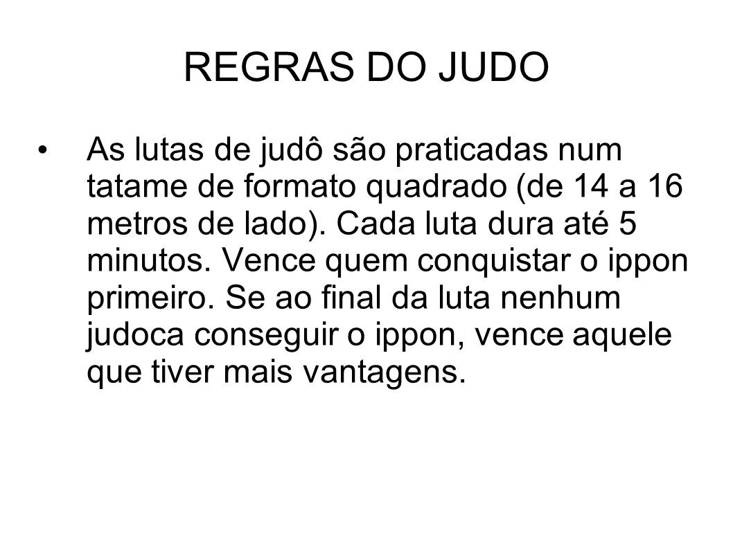 REGRAS DO JUDO