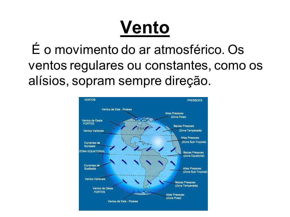Vento É o movimento do ar atmosférico.