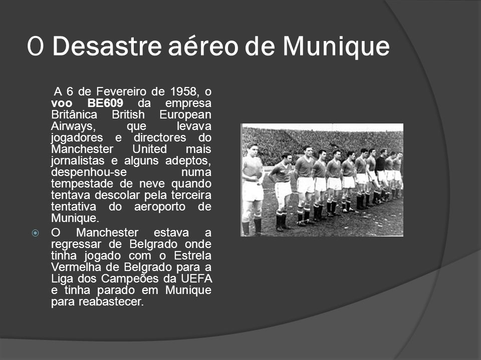 O Desastre aéreo de Munique