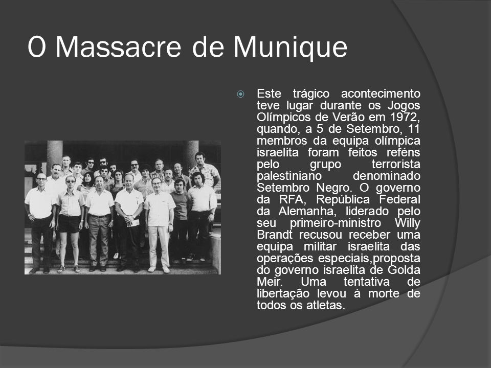O Massacre de Munique