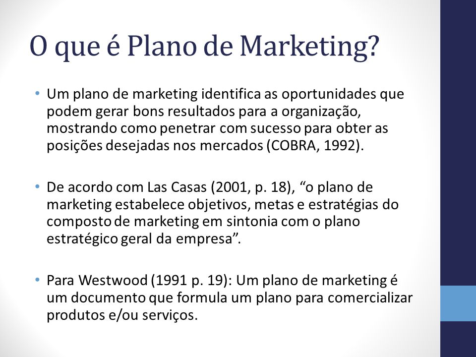 O que é Plano de Marketing