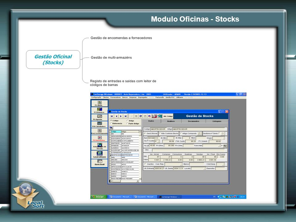Modulo Oficinas - Stocks