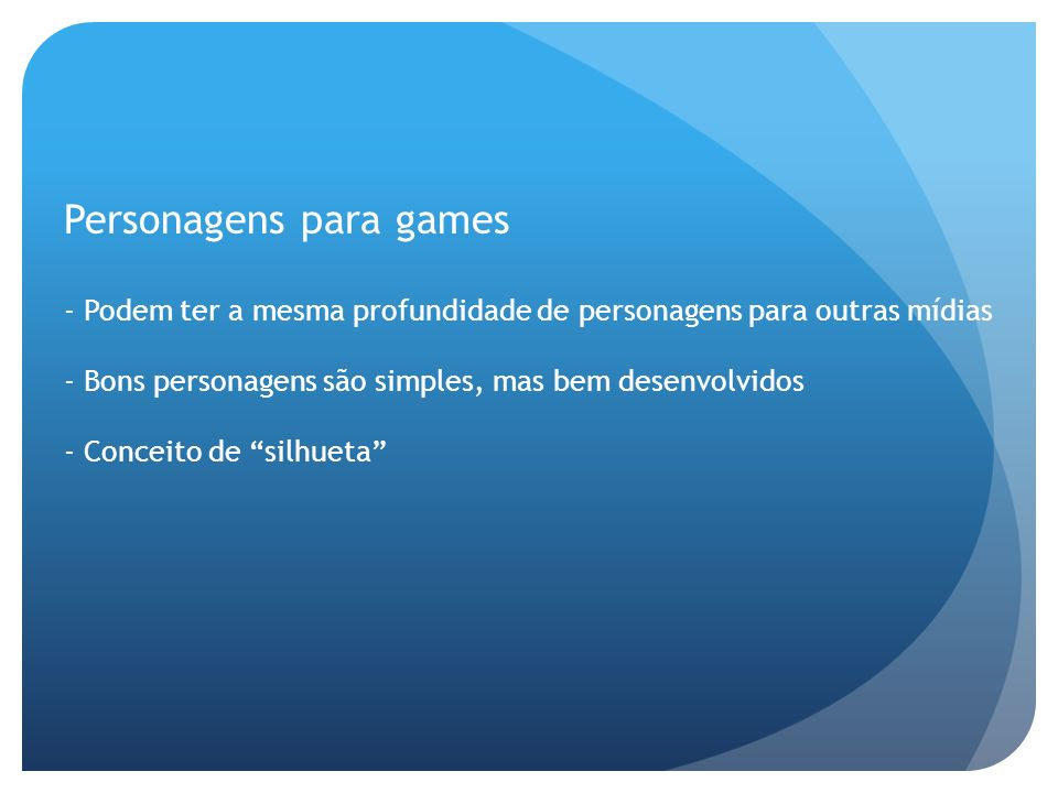 Personagens para games