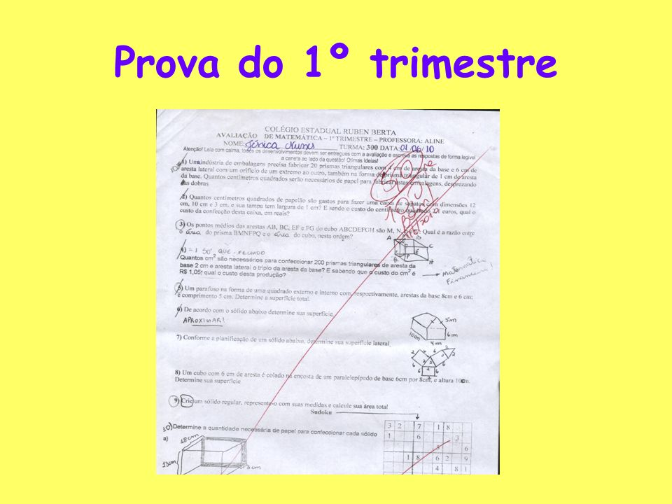 Prova do 1º trimestre
