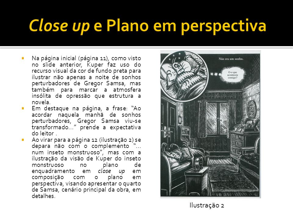 Close up e Plano em perspectiva