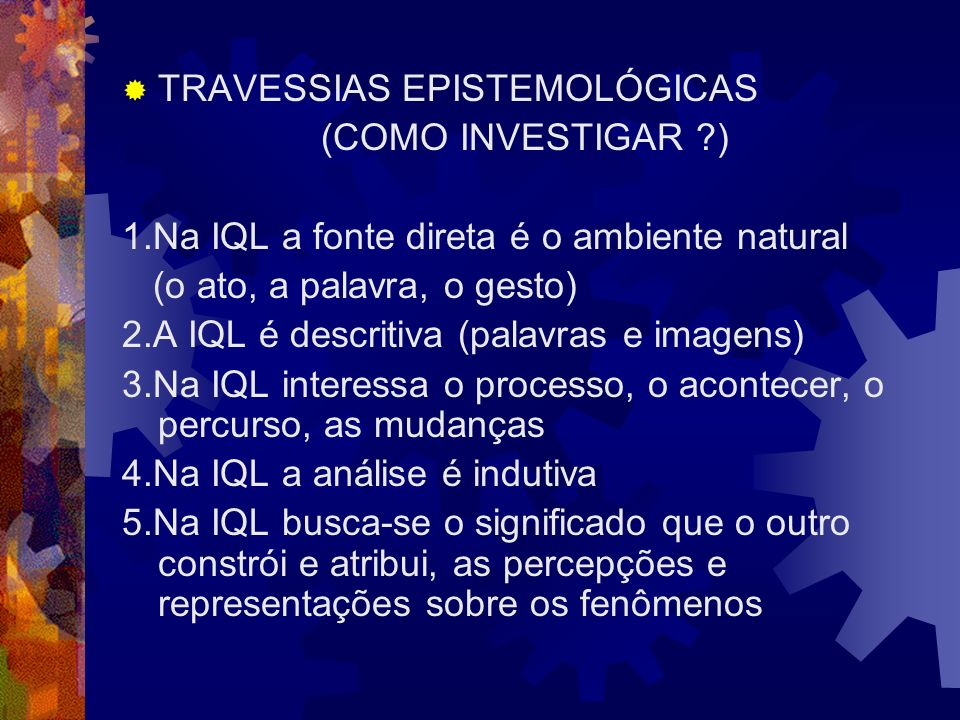 TRAVESSIAS EPISTEMOLÓGICAS