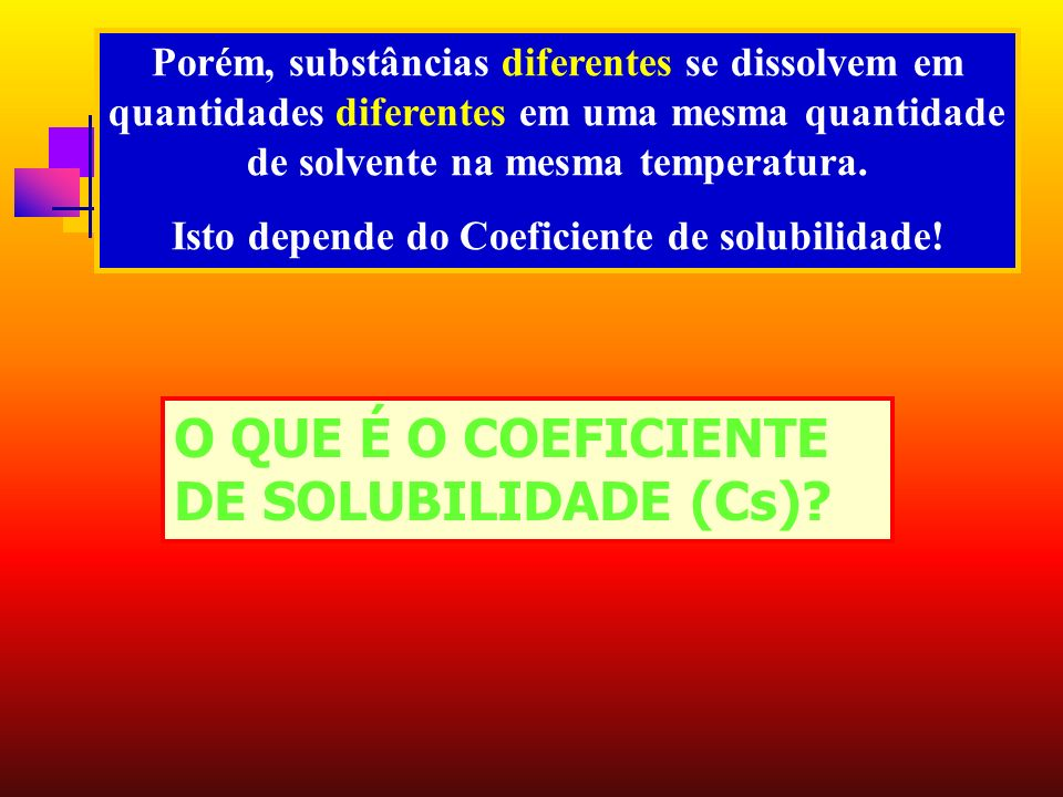 Isto depende do Coeficiente de solubilidade!