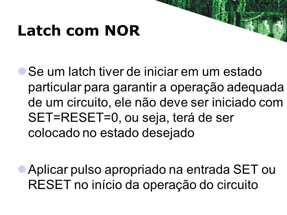 Latch com NOR