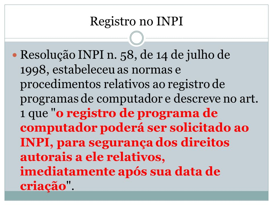Registro no INPI