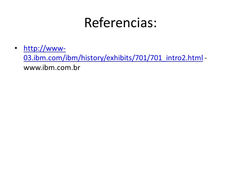 Referencias:   -