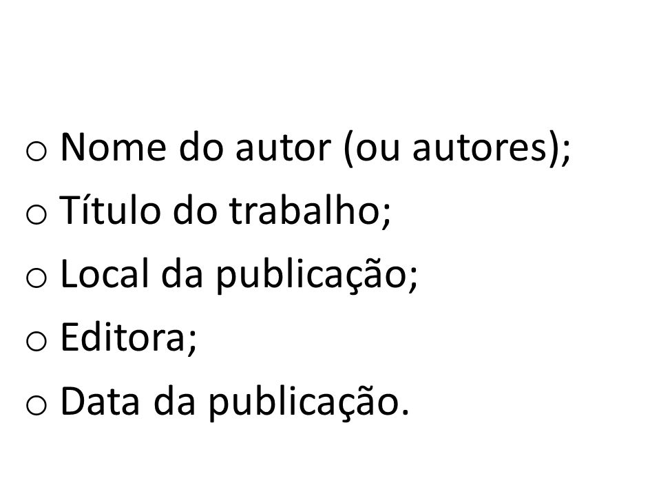 Nome do autor (ou autores);