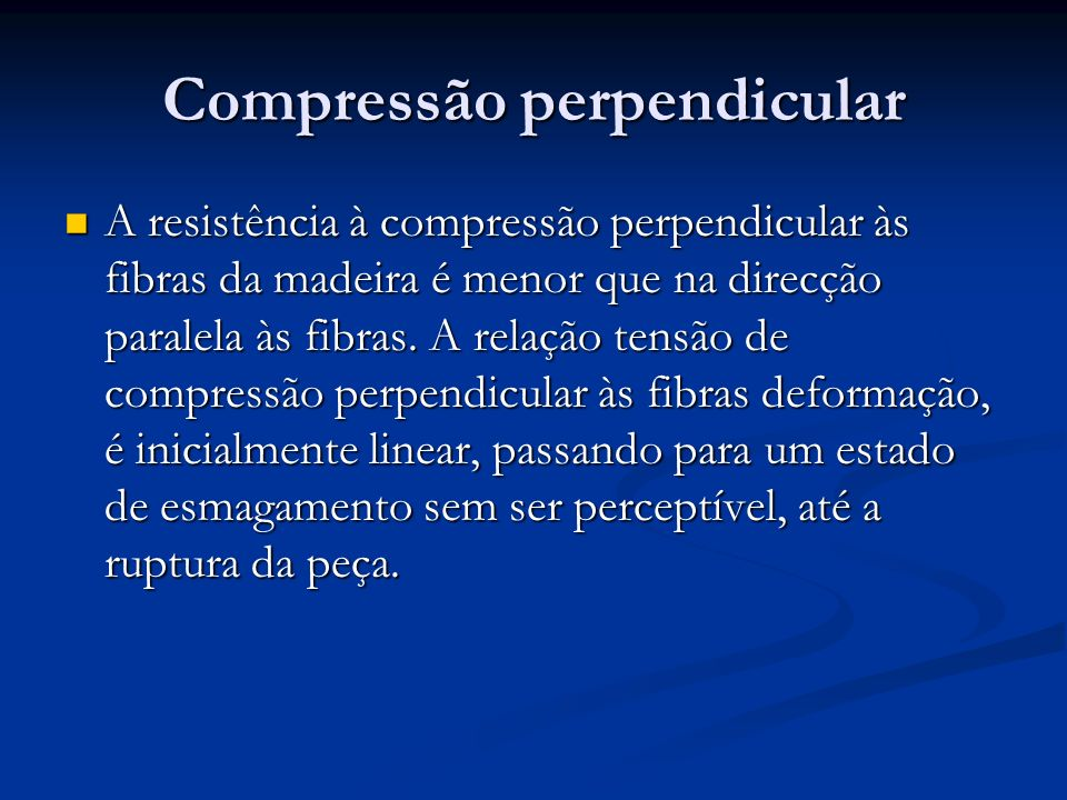 Compressão perpendicular