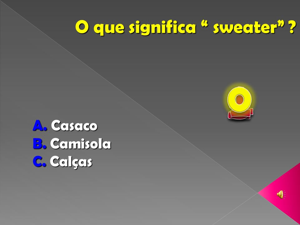 O que significa sweater