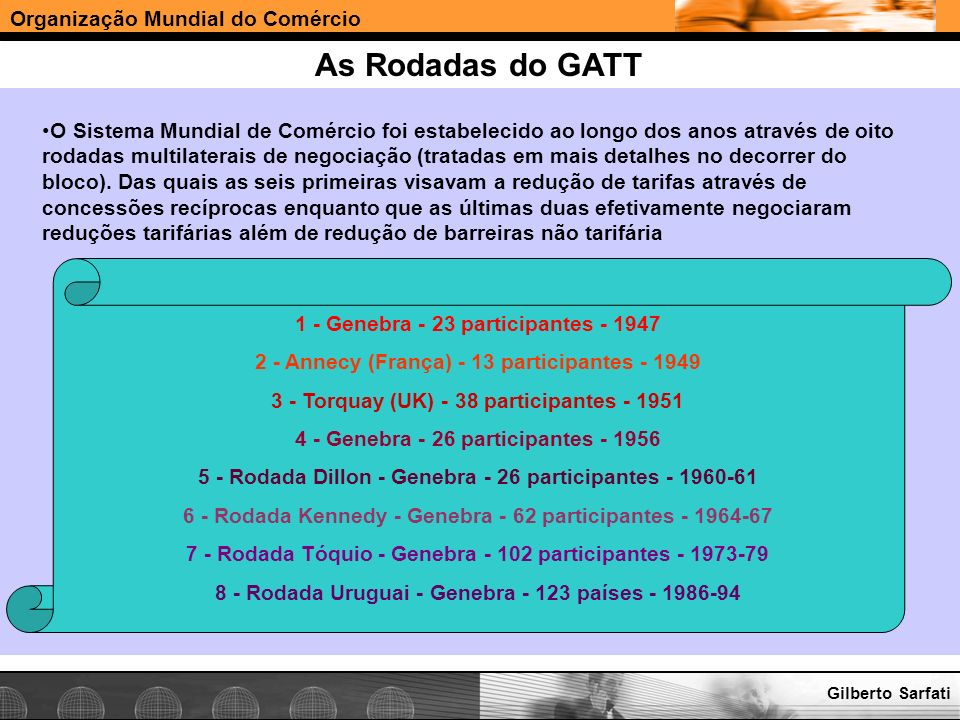 As Rodadas do GATT