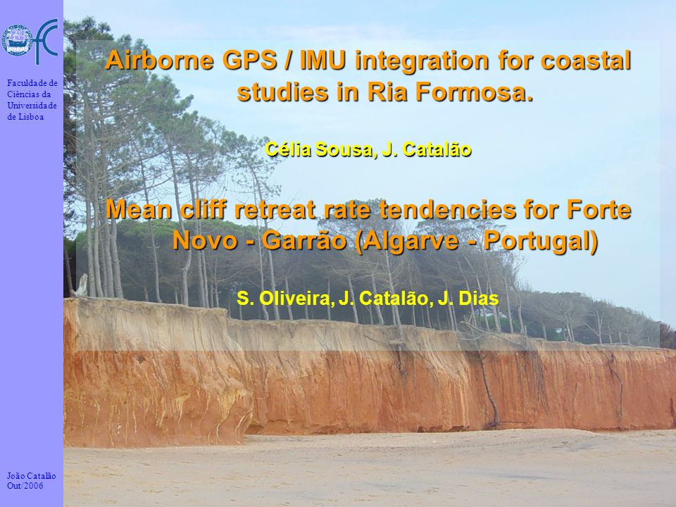Airborne GPS / IMU integration for coastal studies in Ria Formosa.