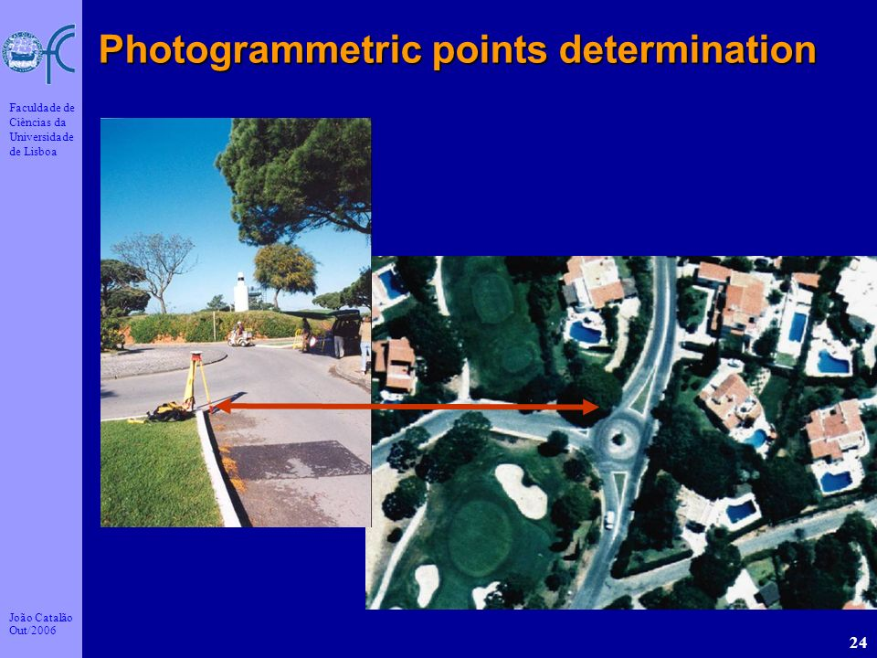 Photogrammetric points determination