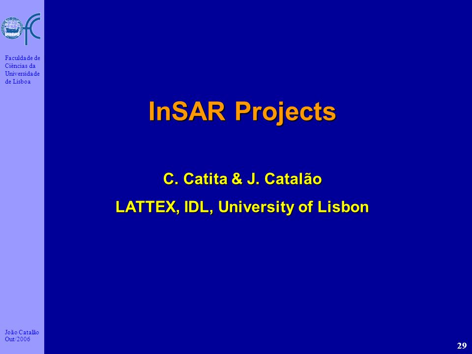 LATTEX, IDL, University of Lisbon