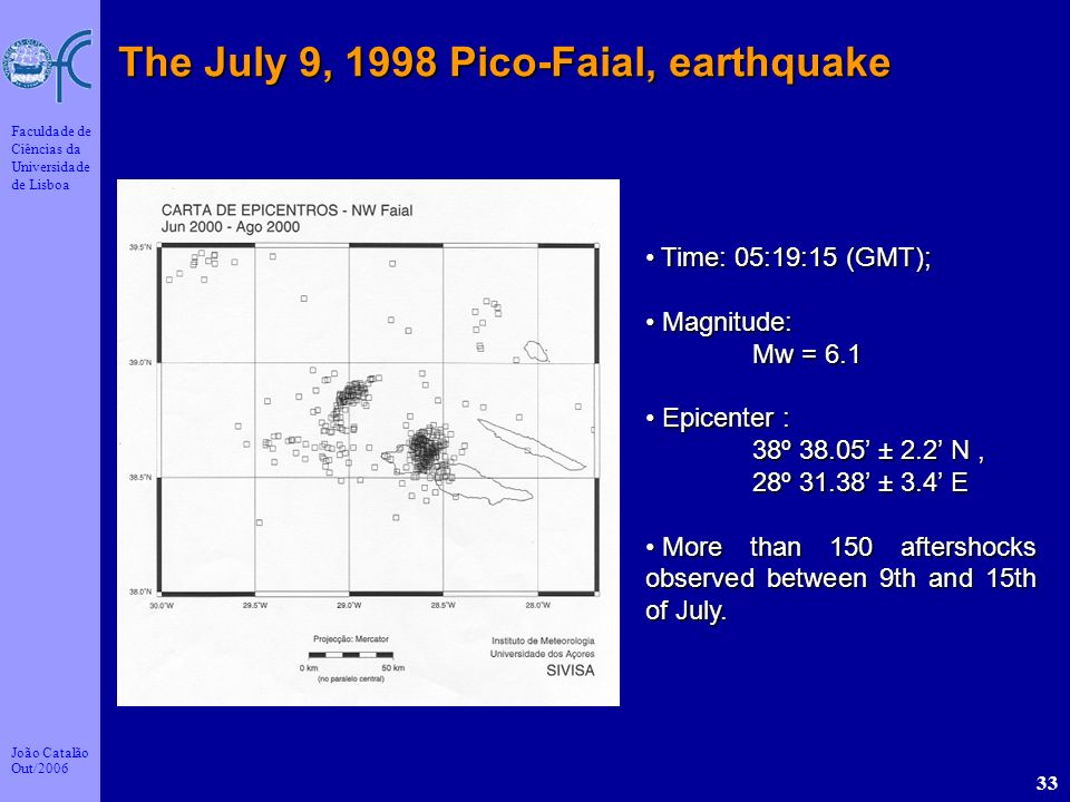 The July 9, 1998 Pico-Faial, earthquake