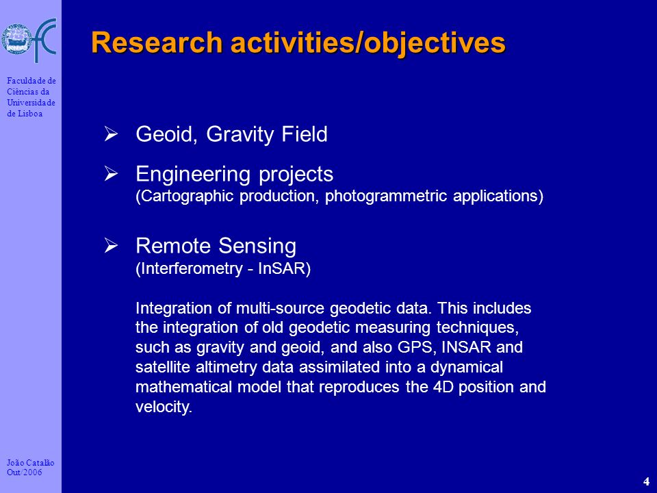 Research activities/objectives