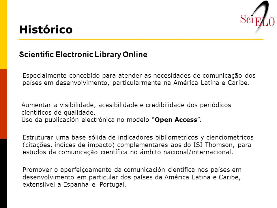 Histórico Scientific Electronic Library Online