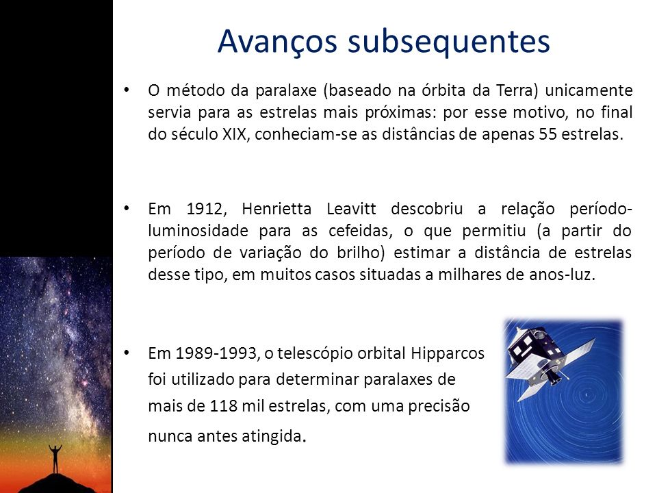 Avanços subsequentes