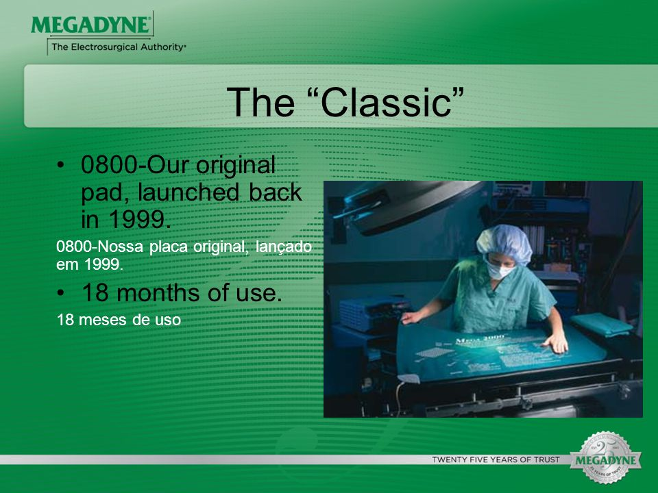 The Classic 0800-Our original pad, launched back in 1999.