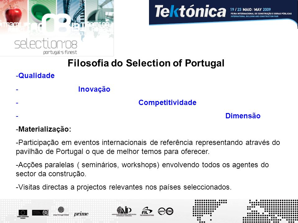 Filosofia do Selection of Portugal