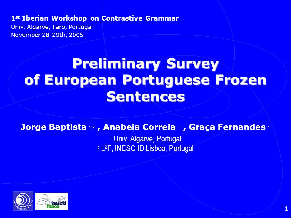 Preliminary Survey of European Portuguese Frozen Sentences