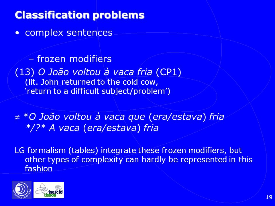Classification problems