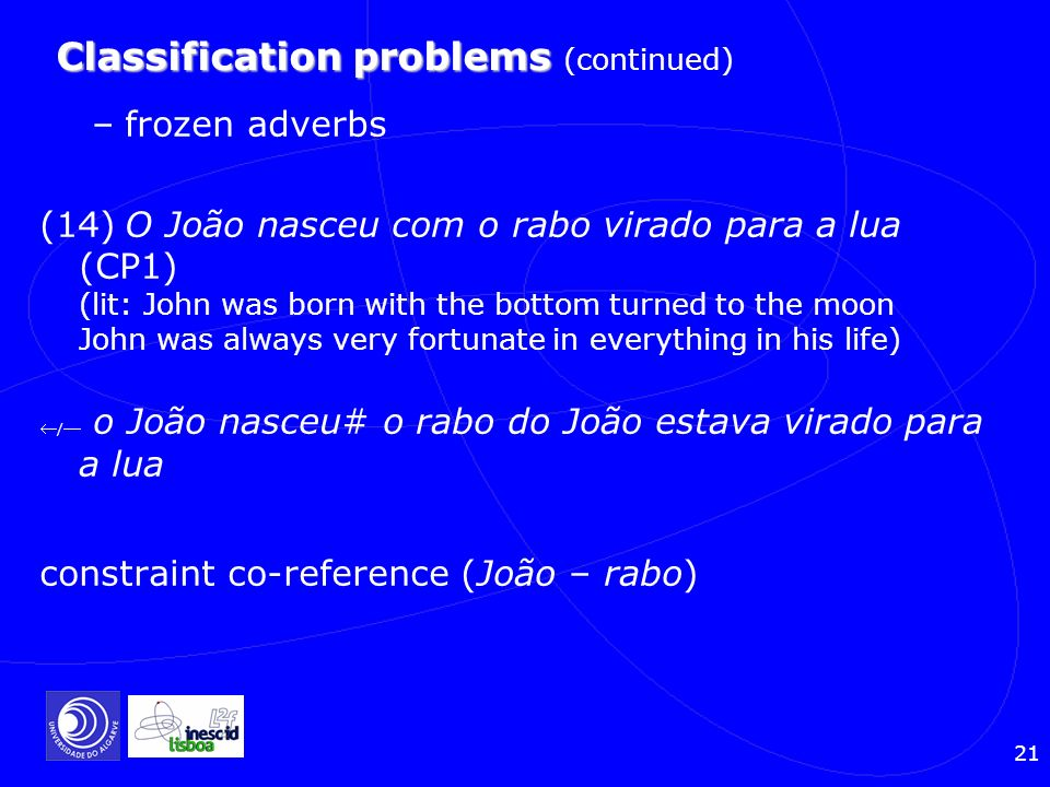 Classification problems (continued)