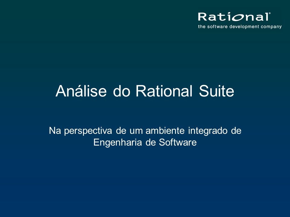 Análise do Rational Suite