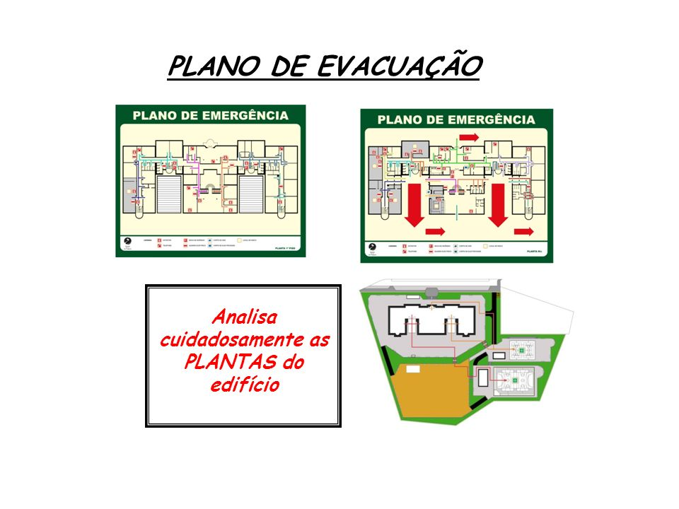 Analisa cuidadosamente as PLANTAS do edifício
