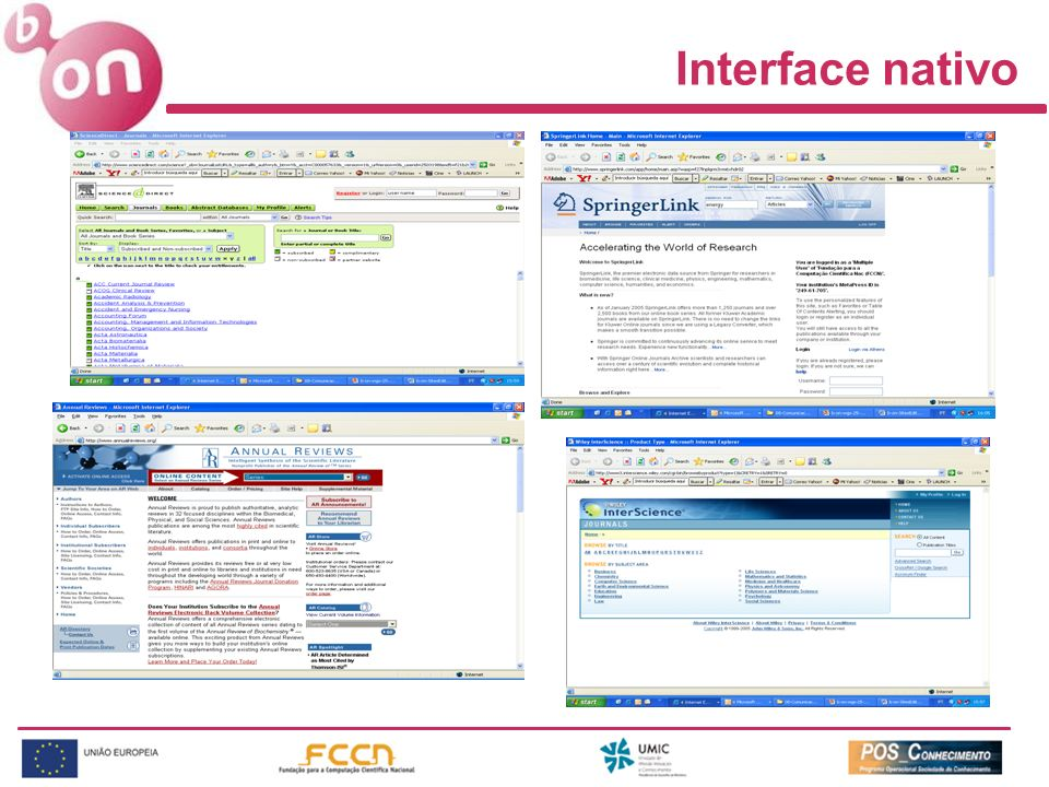 Interface nativo