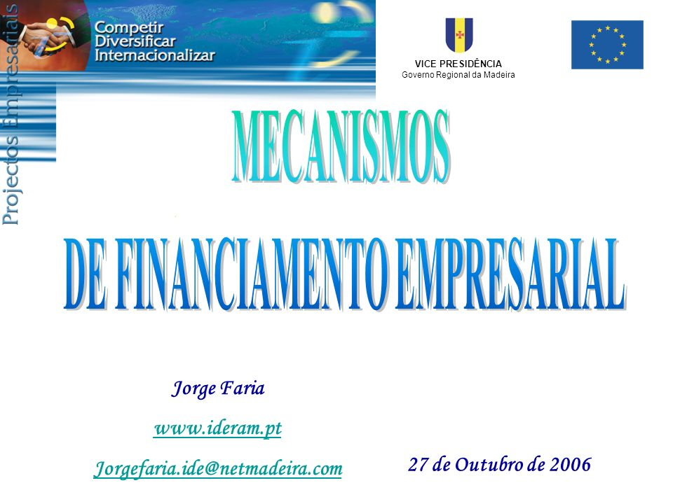 DE FINANCIAMENTO EMPRESARIAL