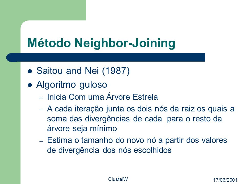 Método Neighbor-Joining