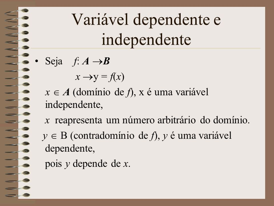 Variável dependente e independente