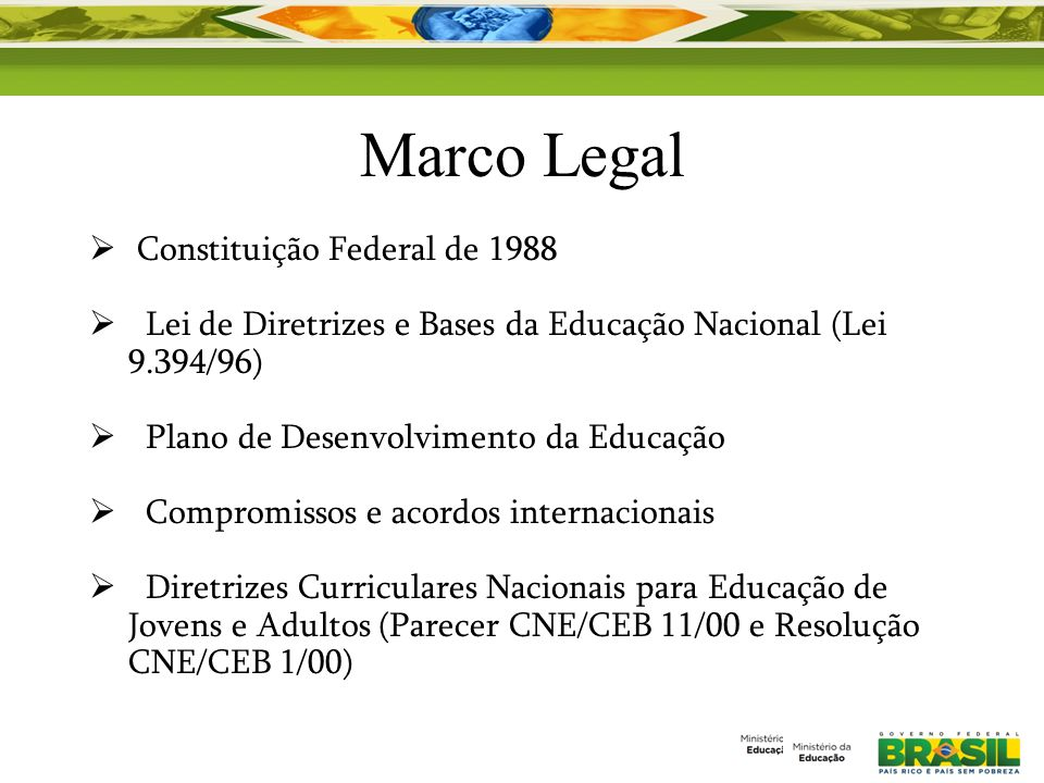 Marco Legal Constituição Federal de 1988