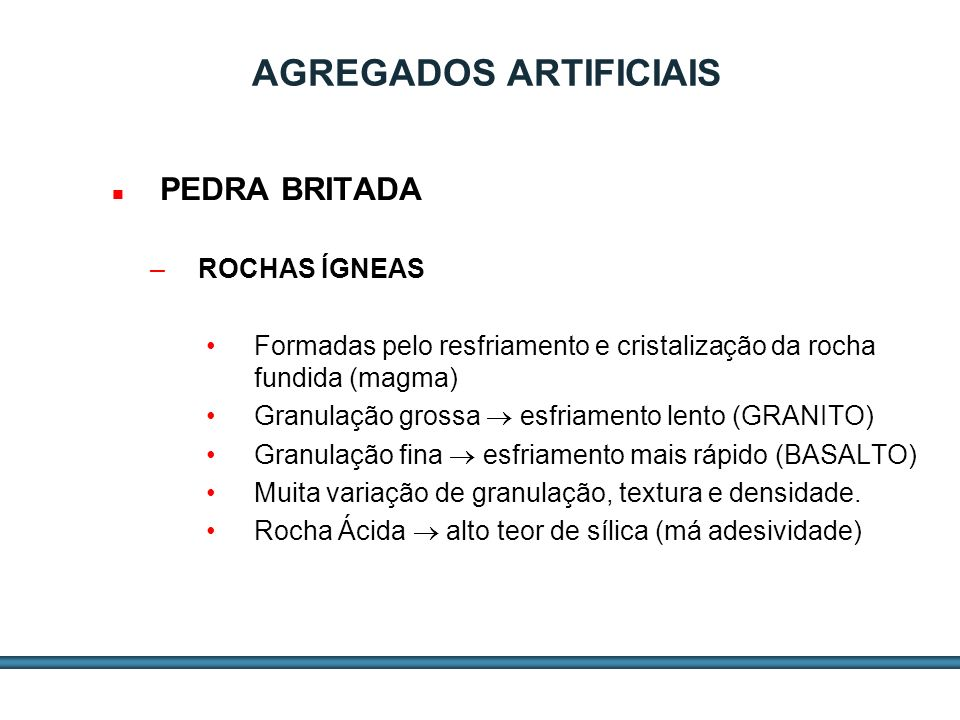 AGREGADOS ARTIFICIAIS