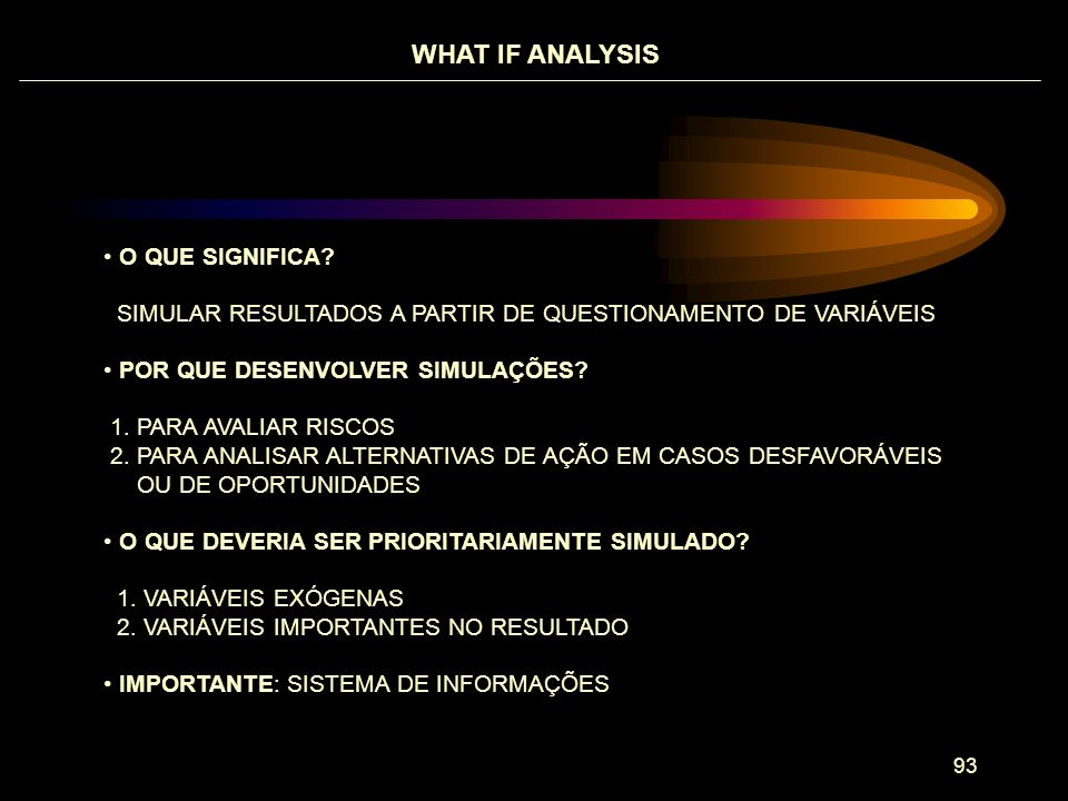 WHAT IF ANALYSIS O QUE SIGNIFICA