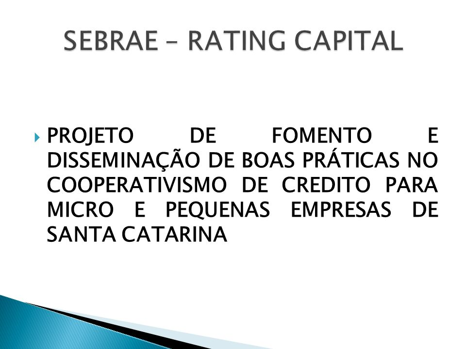 SEBRAE – RATING CAPITAL