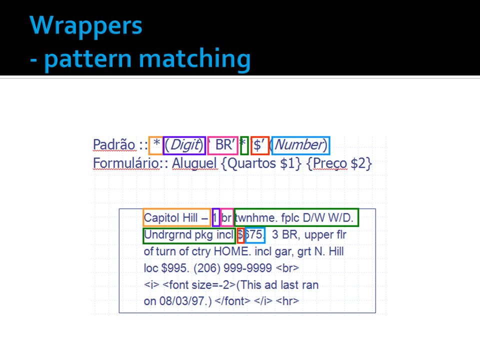 Wrappers - pattern matching