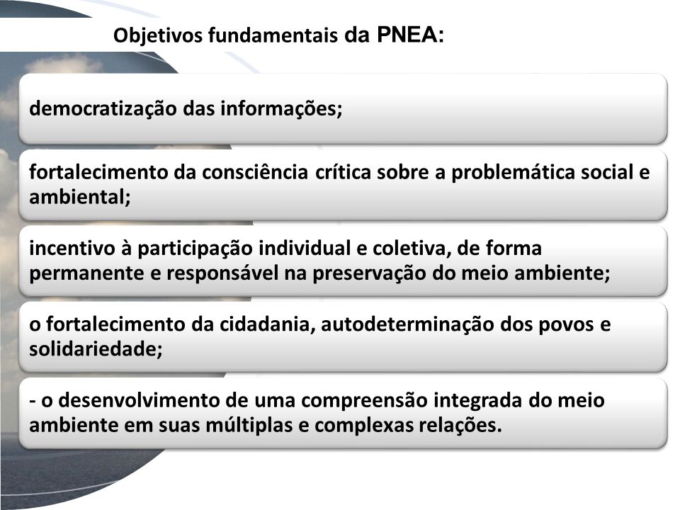 Objetivos fundamentais da PNEA: