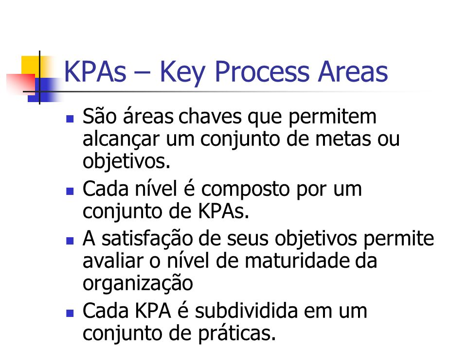 KPAs – Key Process Areas