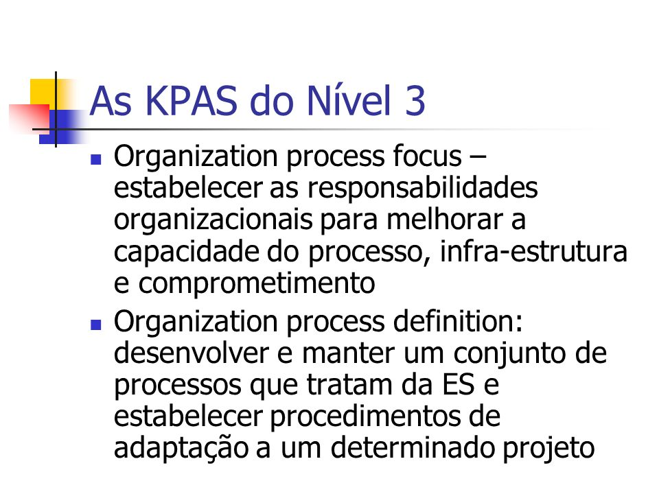As KPAS do Nível 3