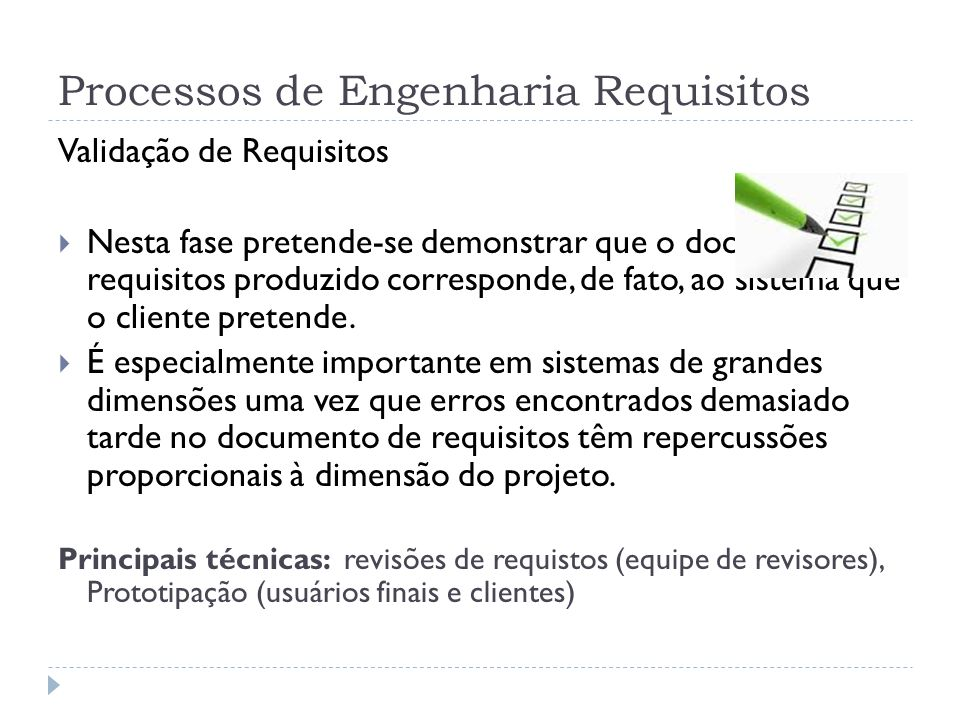 Processos de Engenharia Requisitos