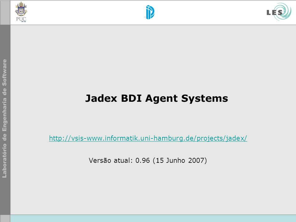 Jadex BDI Agent Systems
