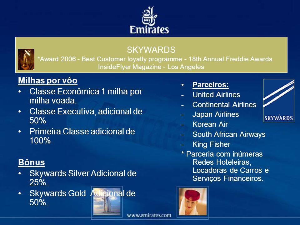 SKYWARDS *Award Best Customer loyalty programme - 18th Annual Freddie Awards InsideFlyer Magazine - Los Angeles