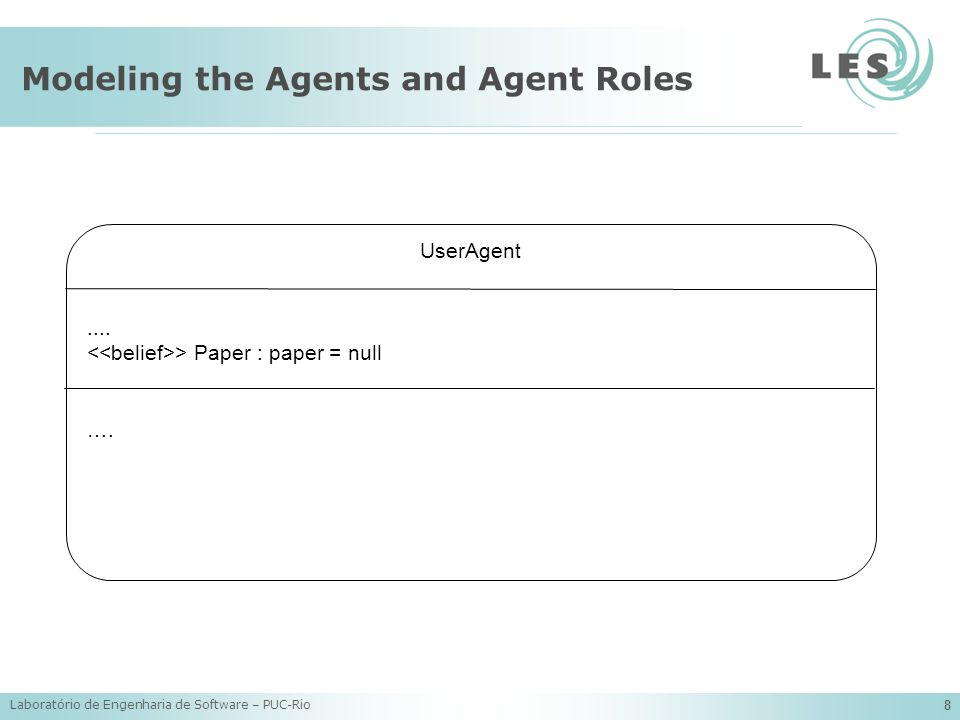 Modeling the Agents and Agent Roles