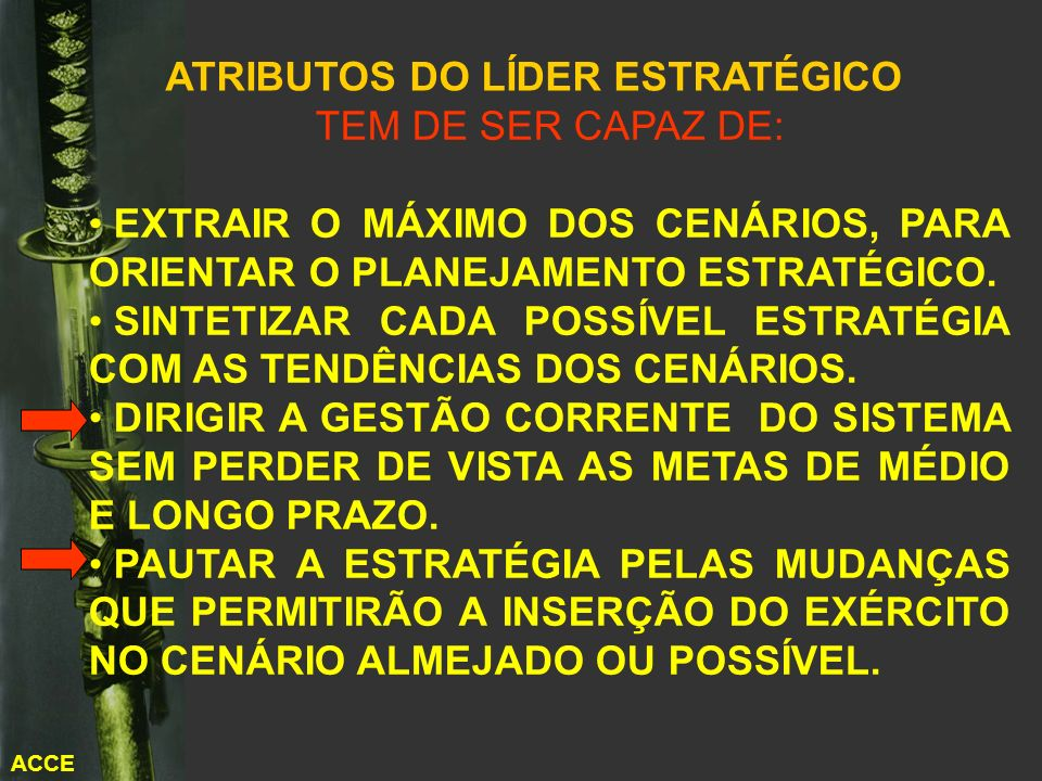 ATRIBUTOS DO LÍDER ESTRATÉGICO